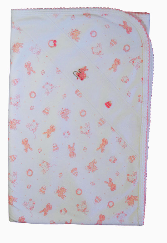 Baby Girl's Toy Bunnies Blanket - Little Threads Inc. Children's Clothing