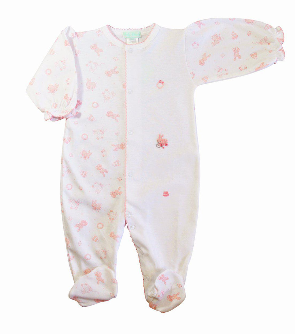 Toy Bunnies Girl's Footie - Little Threads Inc. Children's Clothing