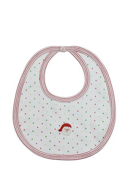 Santa Pima Cotton Bib - Little Threads Inc. Children's Clothing