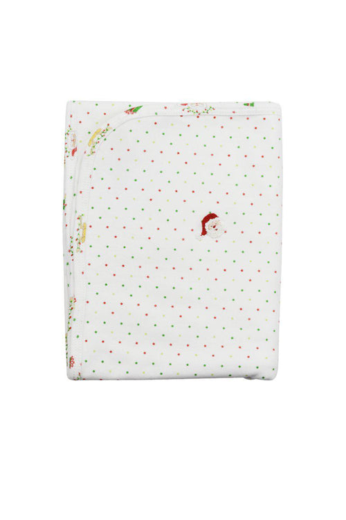 Santa Pima Cotton Embroidered Blanket