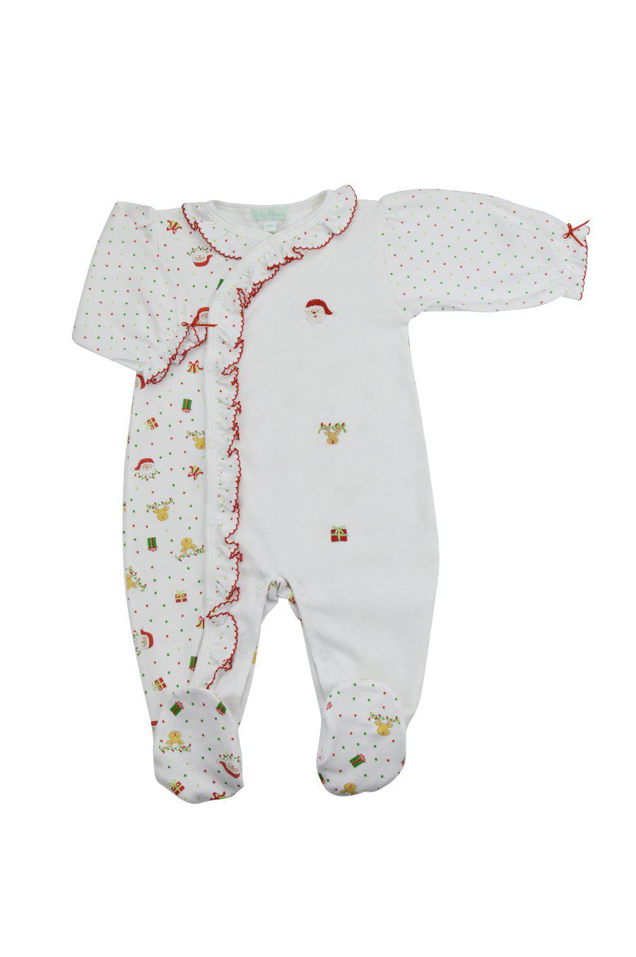 Santa Pima Cotton Baby Girl Footie - Little Threads Inc. Children's Clothing