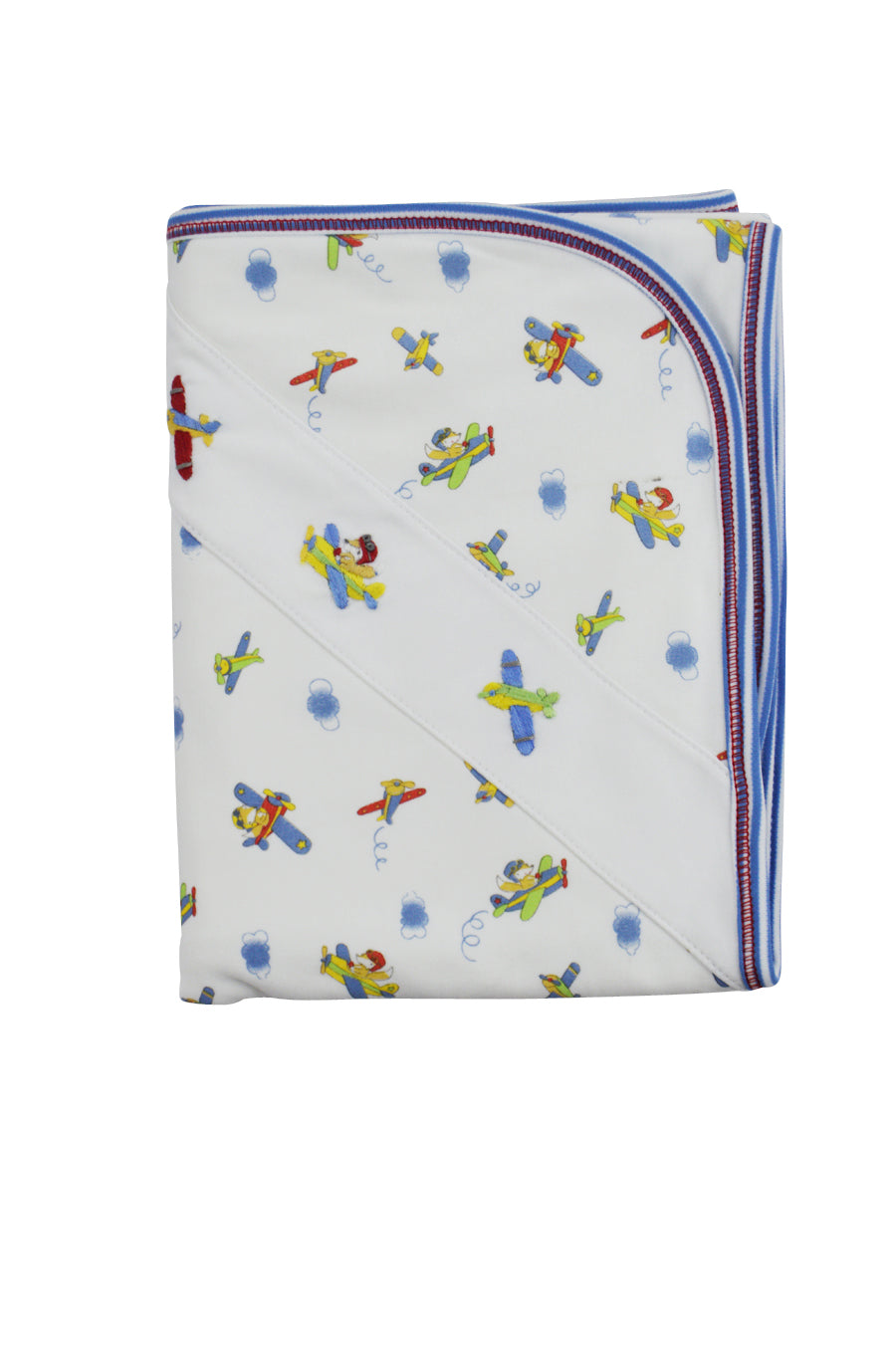 Baby Boy's Fox in Plane Print Blanket - Little Threads Inc. Children's Clothing