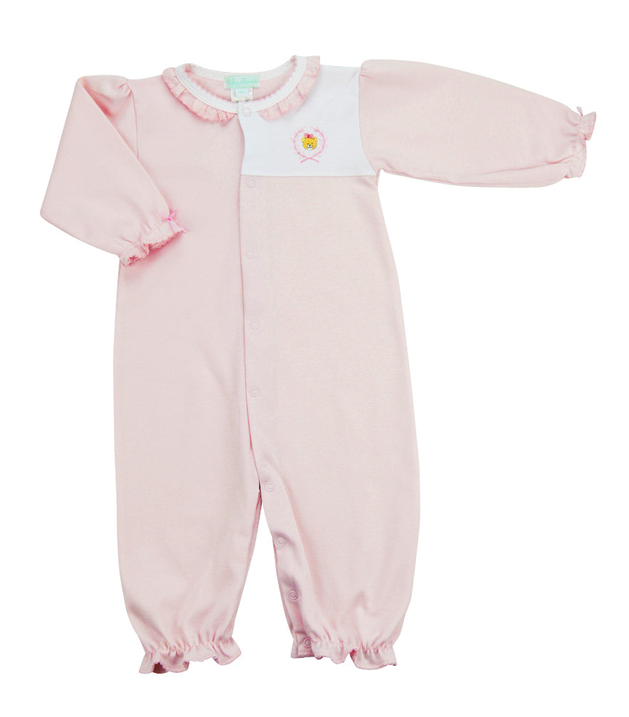 Teddy Baby Girl's Converter Gown. - Little Threads Inc. Children's Clothing