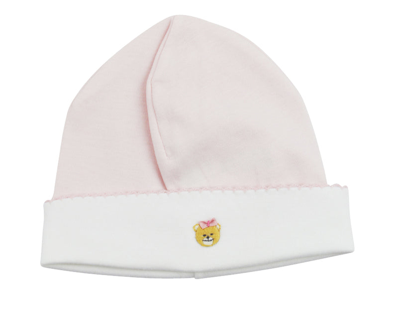 Teddy Bear Baby Girl Hat - Little Threads Inc. Children's Clothing