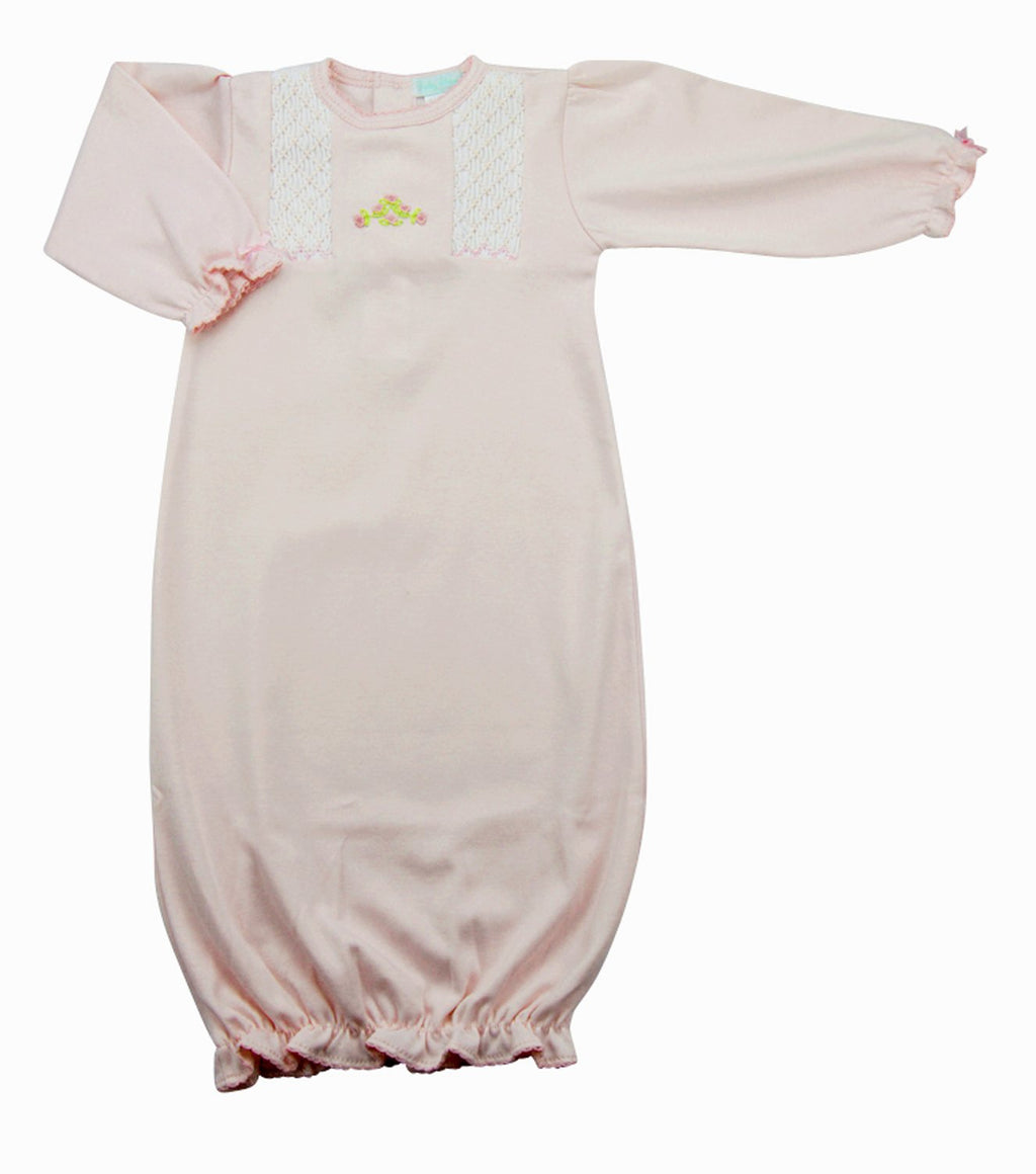 Hand Smocked Pima Cotton Baby Girl's Daygown