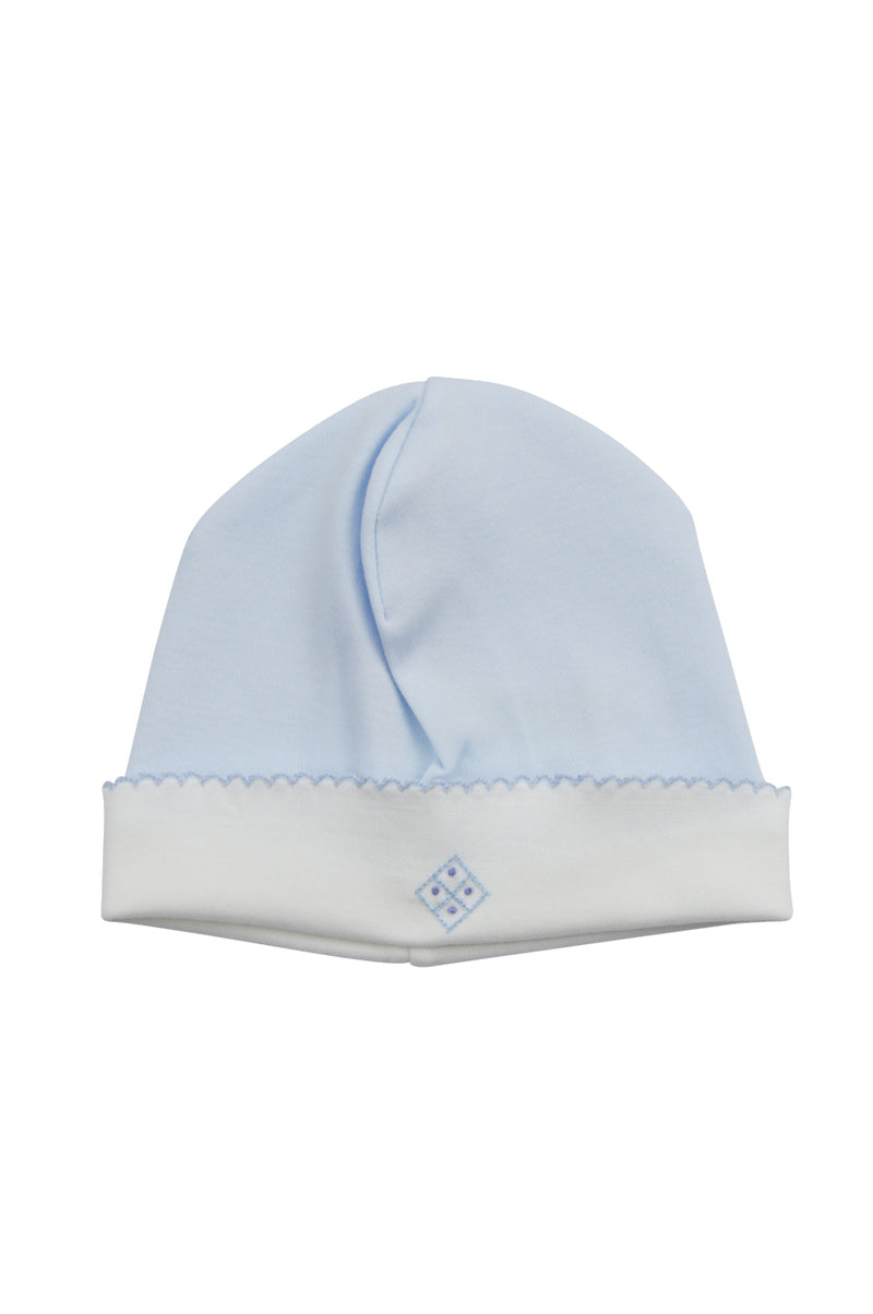 Baby Boy's Blue Tic Tac Hat - Little Threads Inc. Children's Clothing