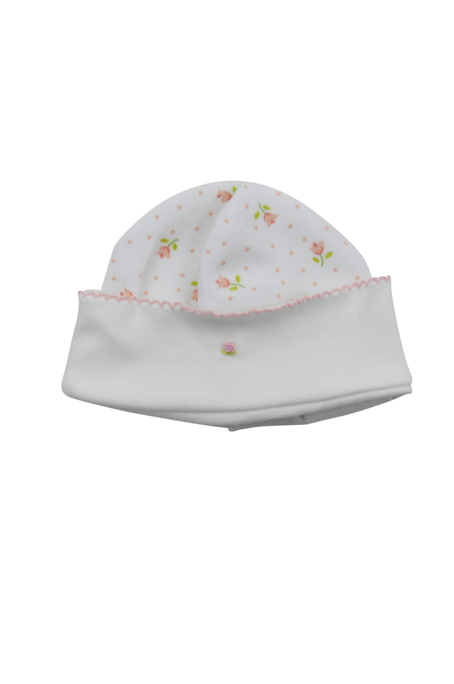 Baby Girl's Floral Print Velour Hat - Little Threads Inc. Children's Clothing