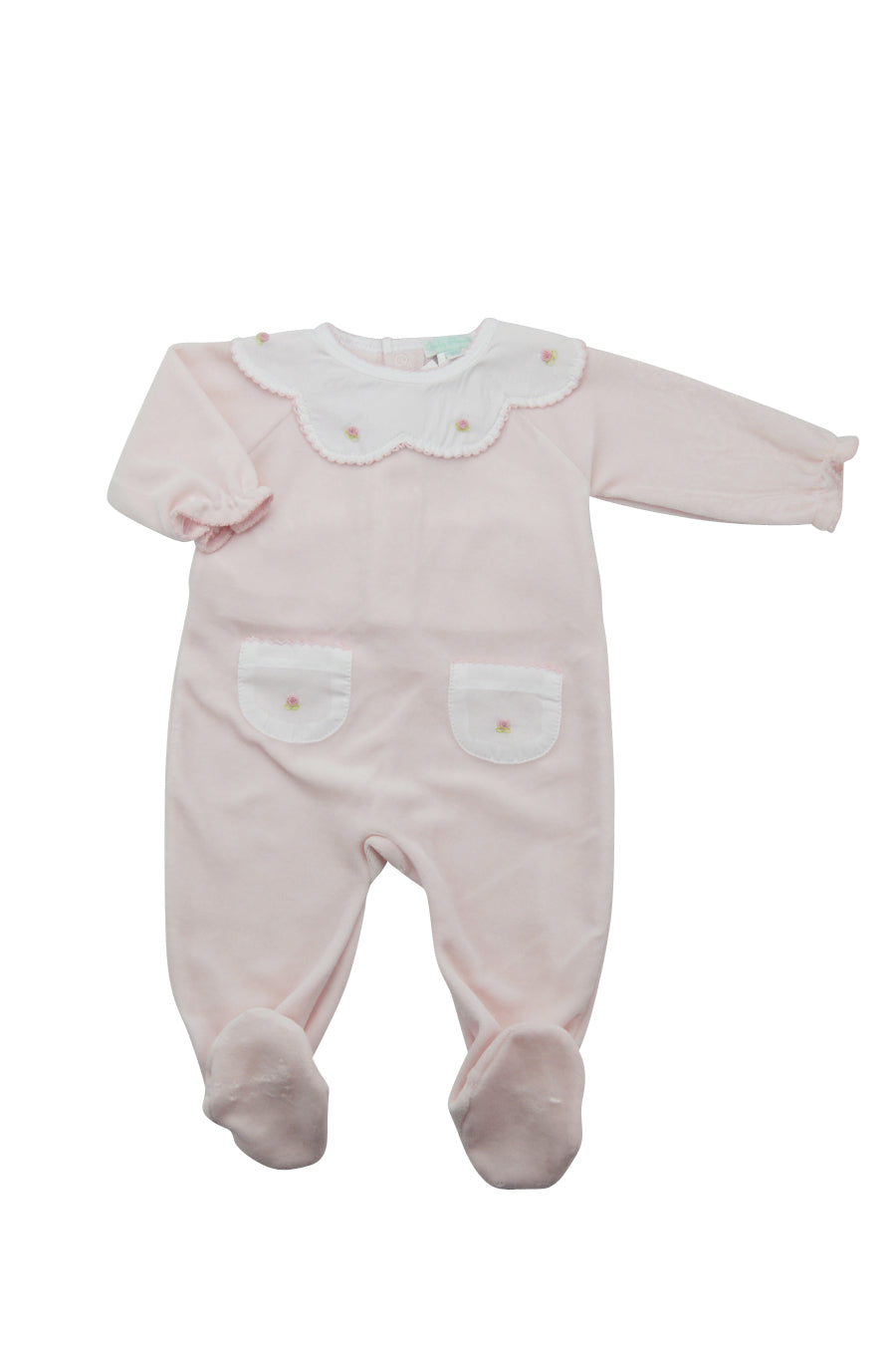Pink Footie with Pockets - Little Threads Inc. Children's Clothing