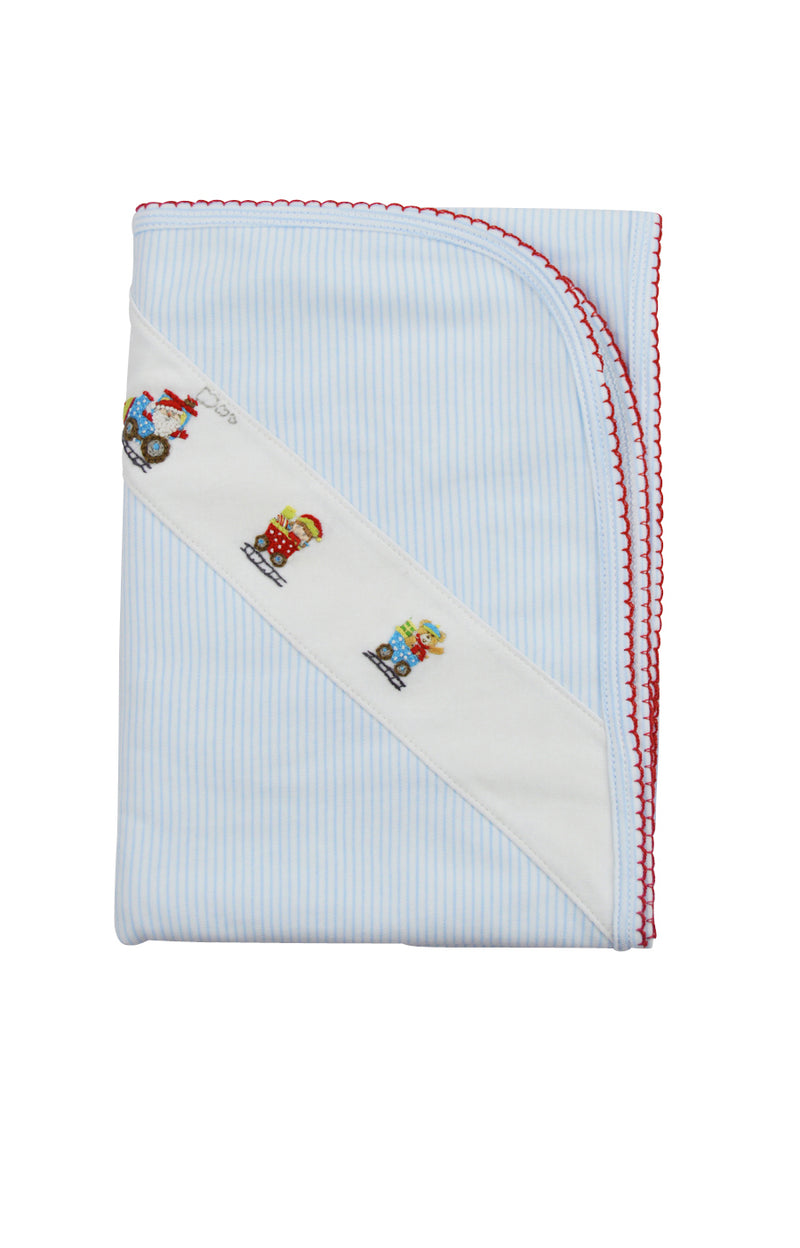 Baby Boy's Christmas Train Blanket - Little Threads Inc. Children's Clothing