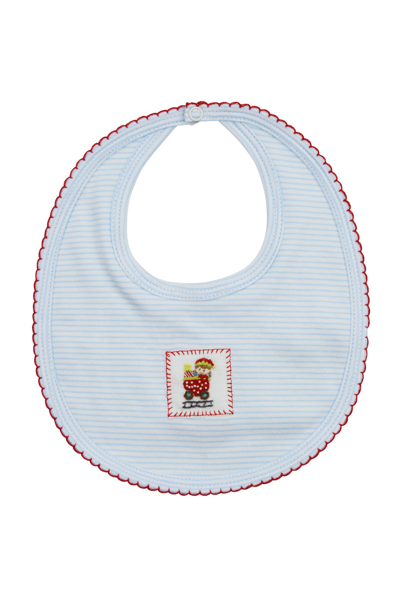 Baby Boy's Christmas Train Bib - Little Threads Inc. Children's Clothing