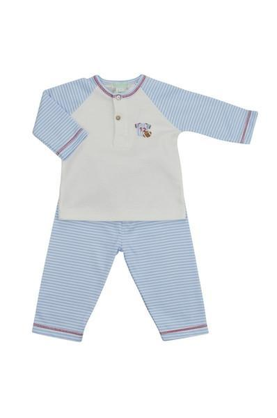 Football Blue Striped Pant Set