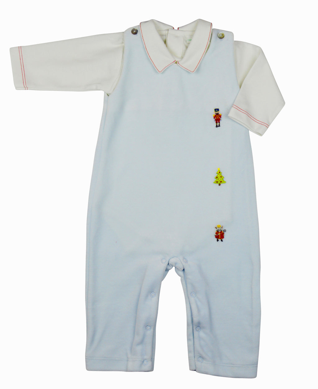 Nutcracker Velour overall  by Baby Threads - Little Threads Inc. Children's Clothing