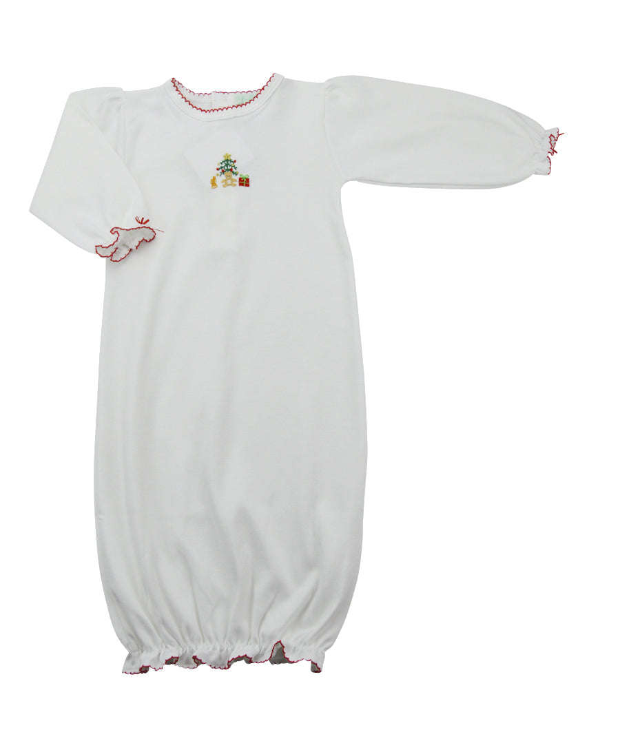 Baby Girl's Christmas Tree Daygown - Little Threads Inc. Children's Clothing