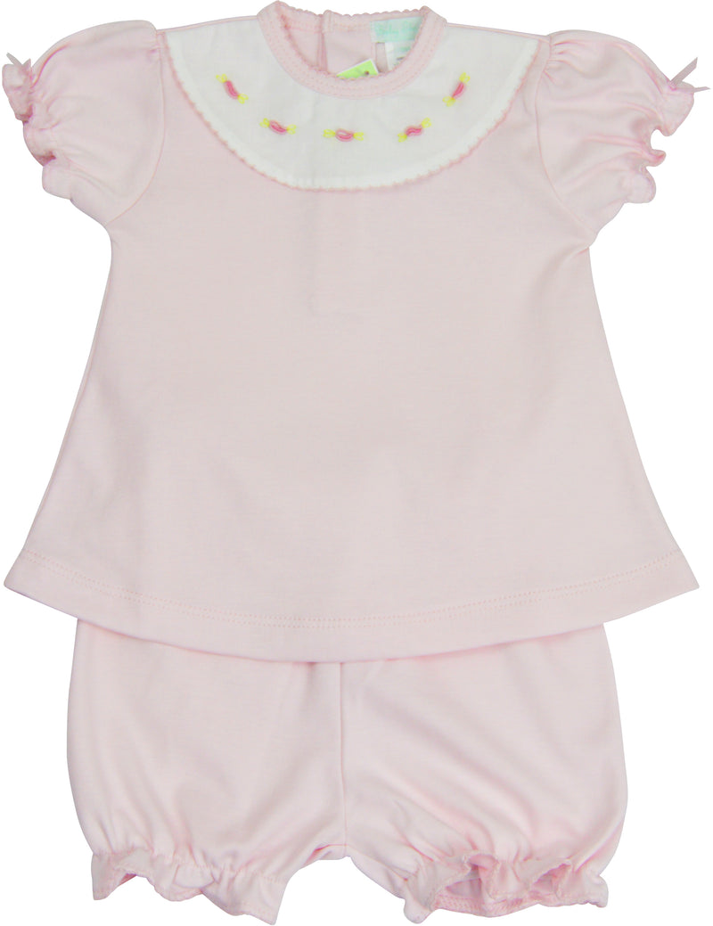 Pink baby girls shirt and diaper cover set - Little Threads Inc. Children's Clothing