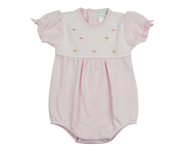 Pink Dots Pima Cotton Baby Onesie - Little Threads Inc. Children's Clothing