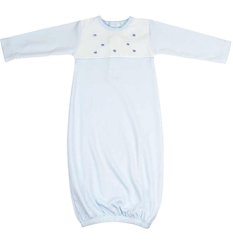 Baby Threads Baby Blue Pima Cotton Daygown