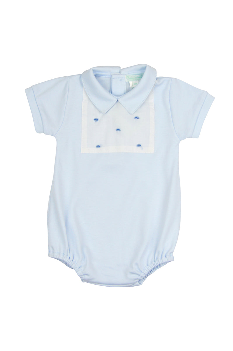 Blue dots Pima cotton Baby Onesie - Little Threads Inc. Children's Clothing