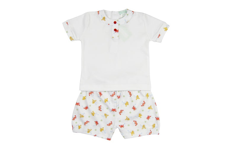 Lobster Boy's Short Set - Little Threads Inc. Children's Clothing