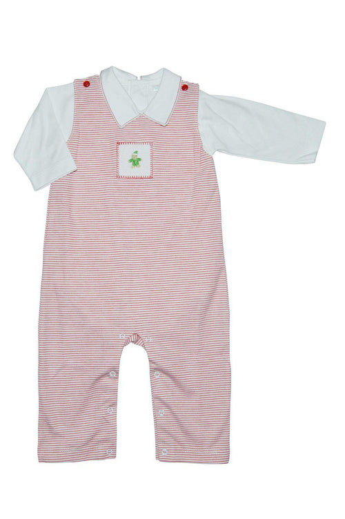Gingerbread Boy's Pima Cotton Overall Set