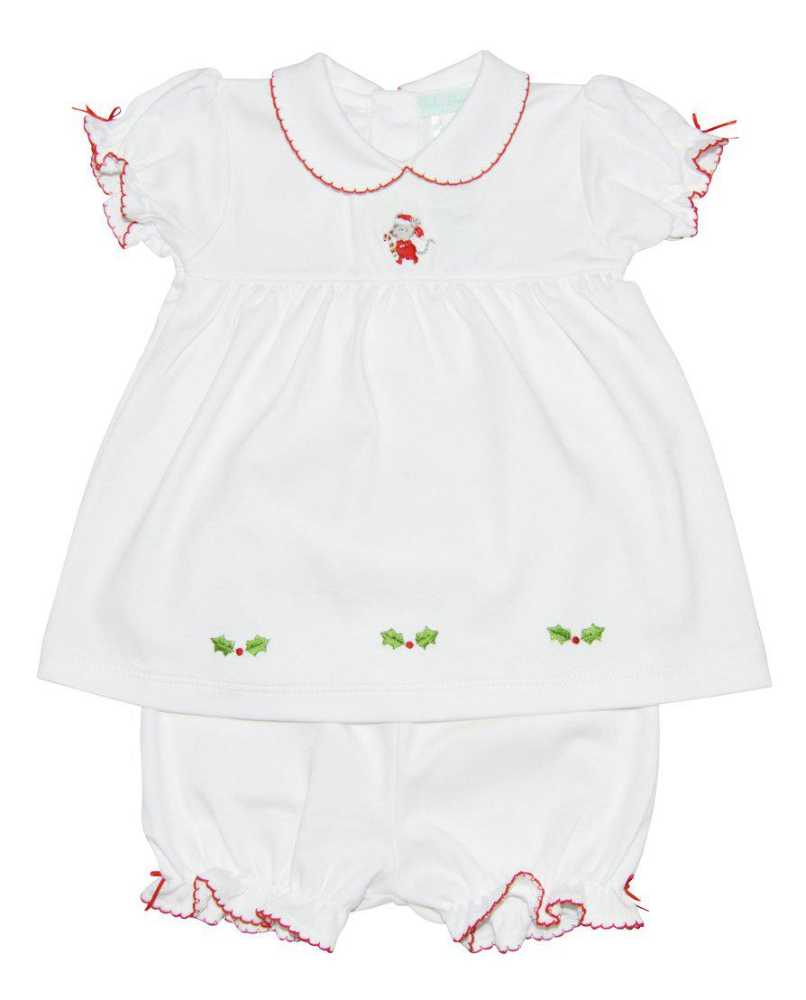 Baby Threads Christmas Mouse  Pima cotton Dress Set