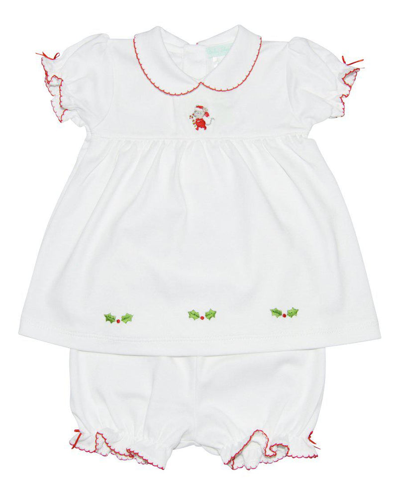 Baby Threads Christmas Mouse Pima cotton Dress Set - Little Threads Inc. Children's Clothing
