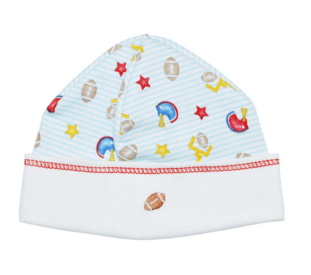 Football  Pima Cotton Baby boy hat - Little Threads Inc. Children's Clothing