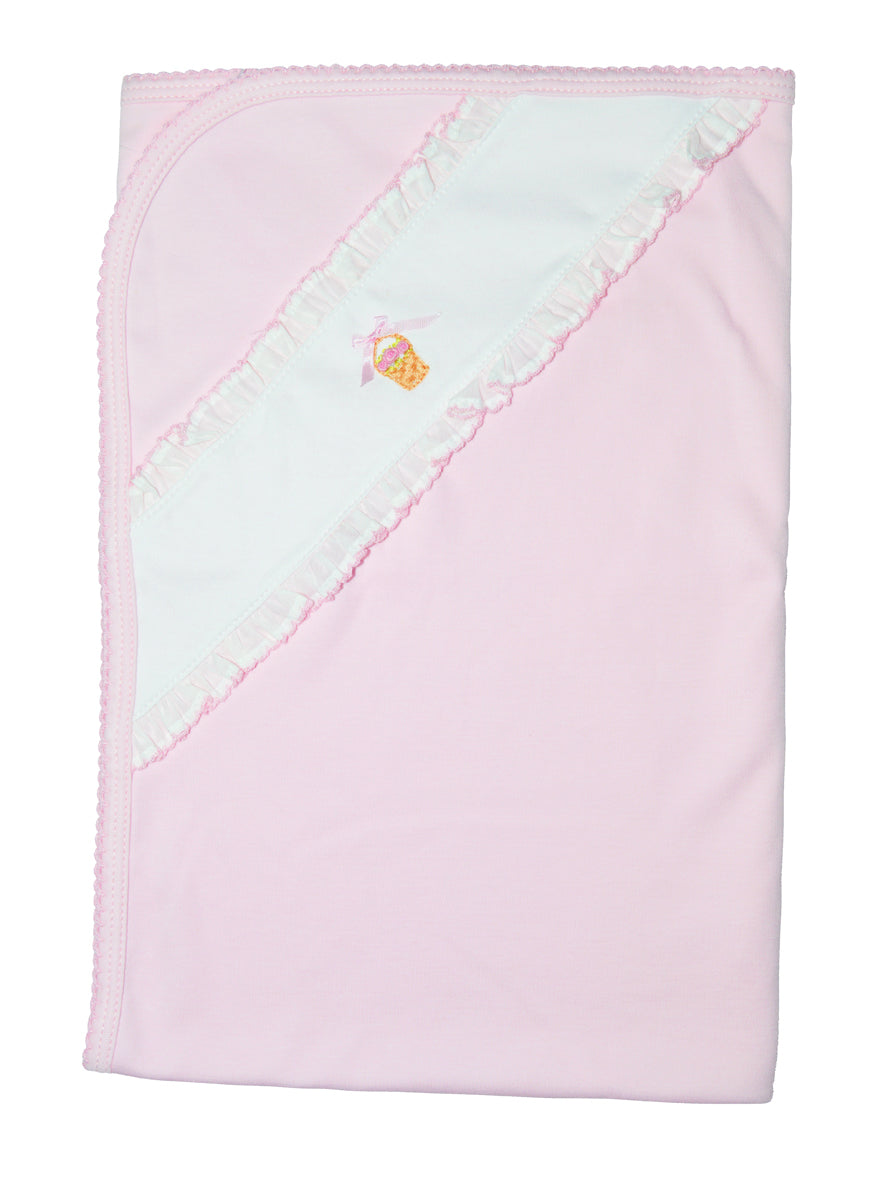 Pink Basket Baby Girl's blanket