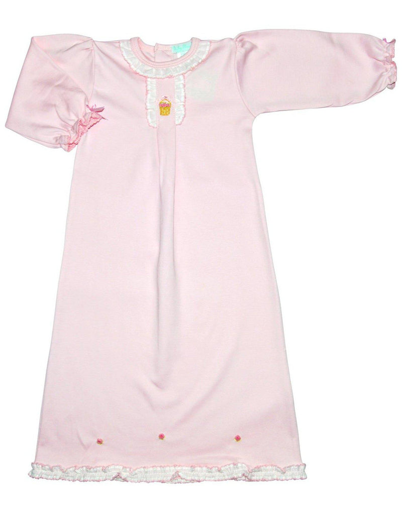 Baby Threads Pima Cotton Basket Baby Girl Daygown