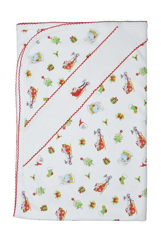 Santa on the Way Blanket - Little Threads Inc. Children's Clothing