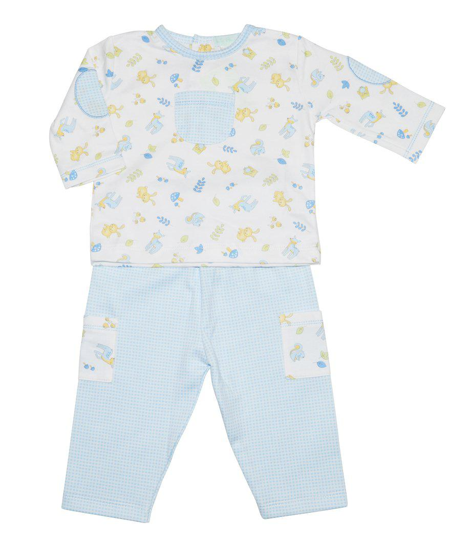 Forest Friends Print  Baby Boy Pant Set - Little Threads Inc. Children's Clothing