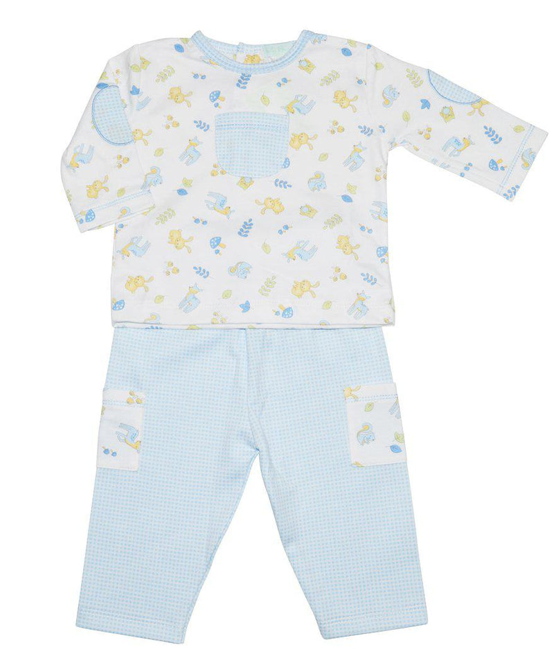 Forest Friends Print  Baby Boy Pant Set