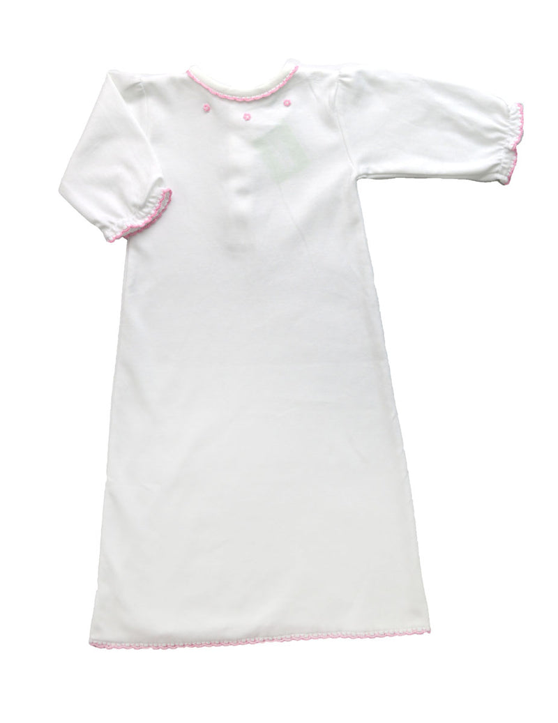 Baby Girl's Pink Crochet Trim Daygown - Little Threads Inc. Children's Clothing