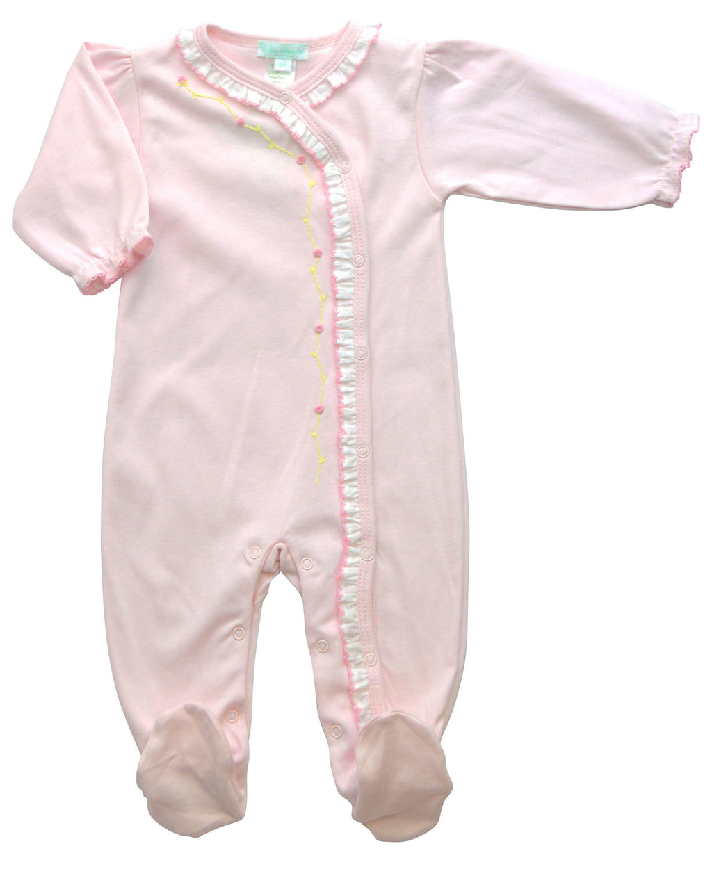 Eden Pink Baby Girl's Footie - Little Threads Inc. Children's Clothing