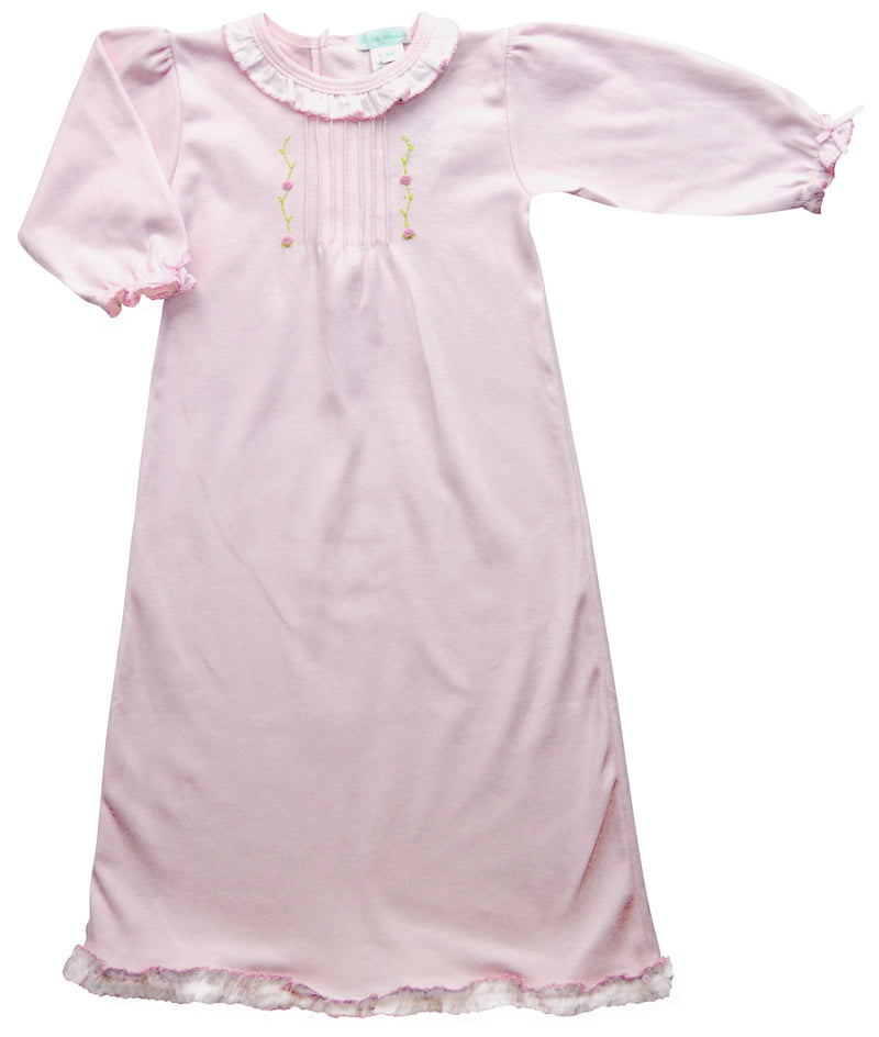 Eden Pink Baby Girl Day Gown - Little Threads Inc. Children's Clothing