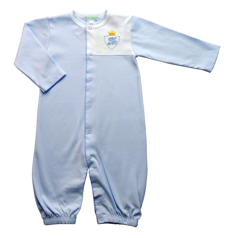Baby Boy Blue Converter with Crown and Monogram - Little Threads Inc. Children's Clothing