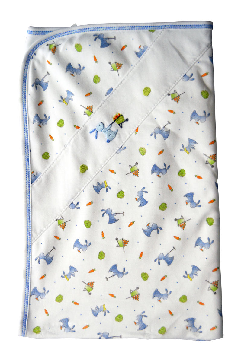 Baby Boy's Bunny Garden Blanket - Little Threads Inc. Children's Clothing