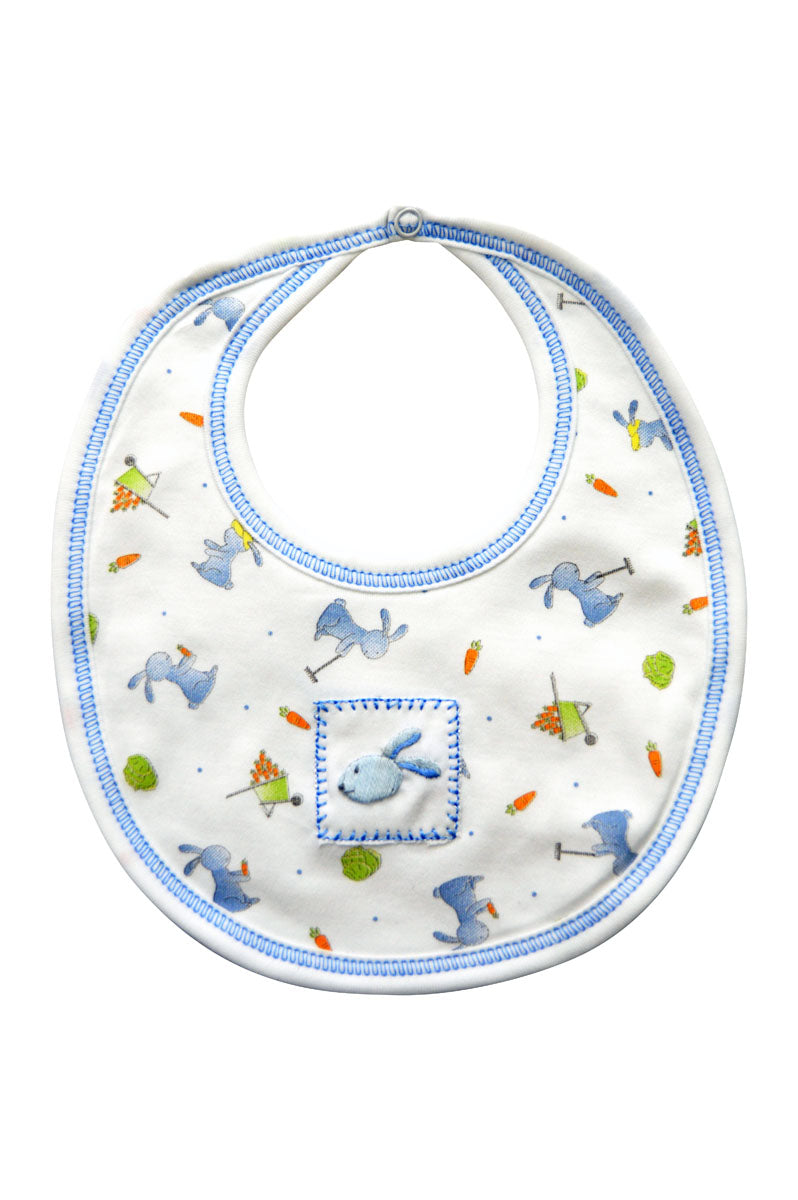 Baby Boy's Garden Bunny Bib - Little Threads Inc. Children's Clothing