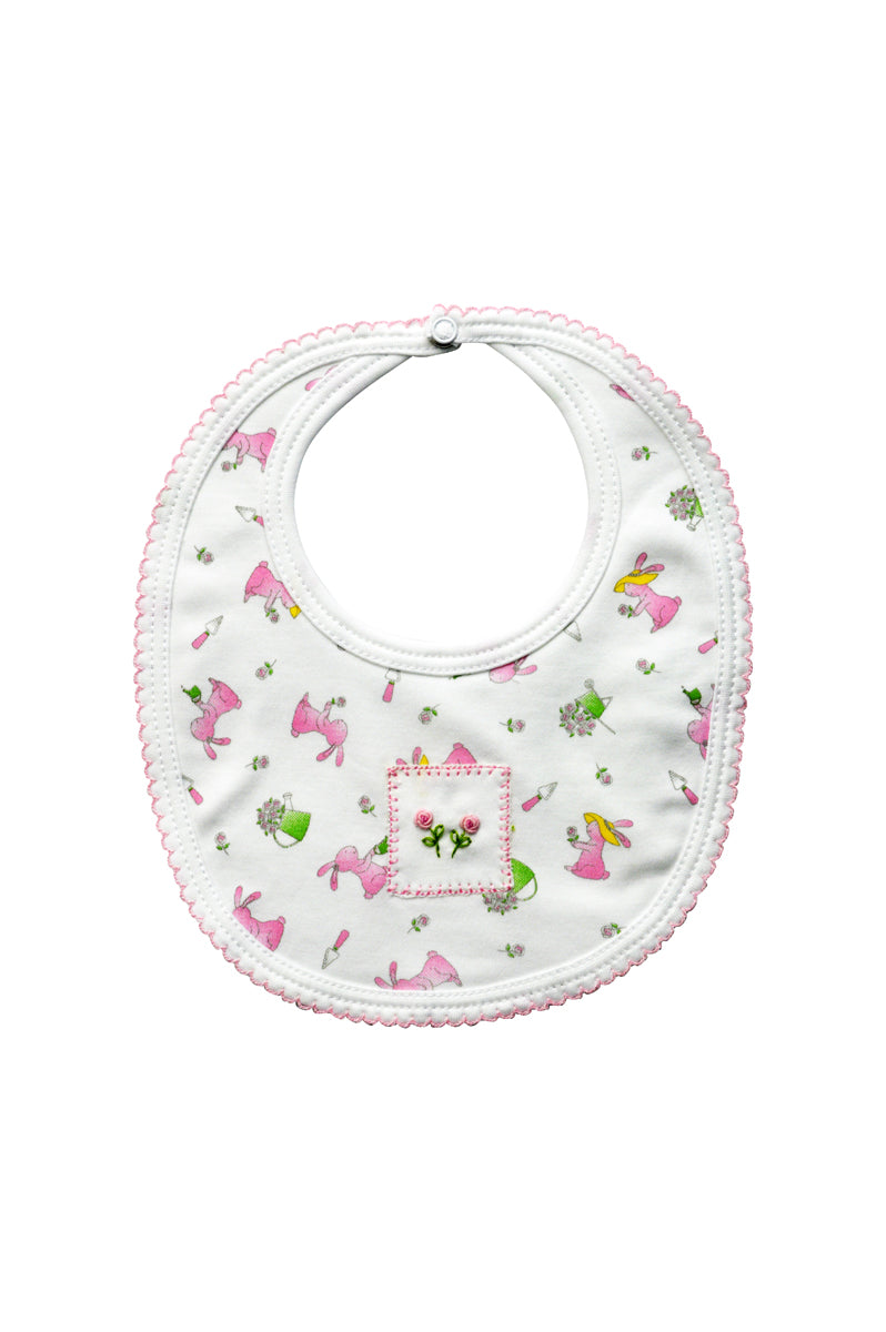 Baby Girl's Garden Bunny Bib - Little Threads Inc. Children's Clothing