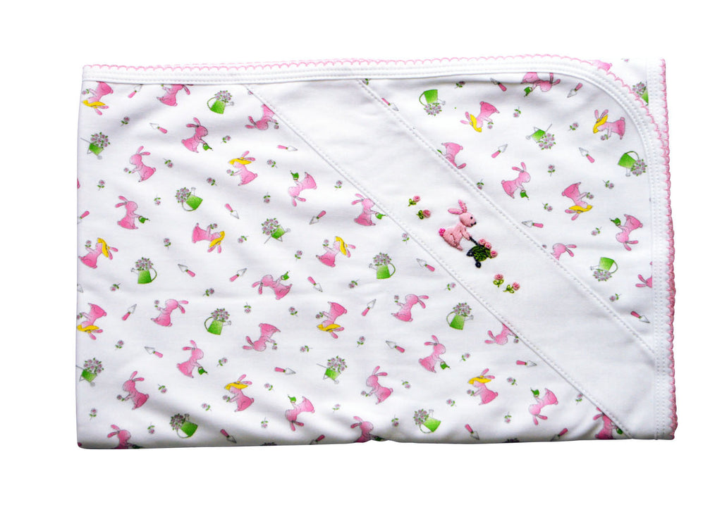 Baby Girl's Garden Bunny Blanket - Little Threads Inc. Children's Clothing