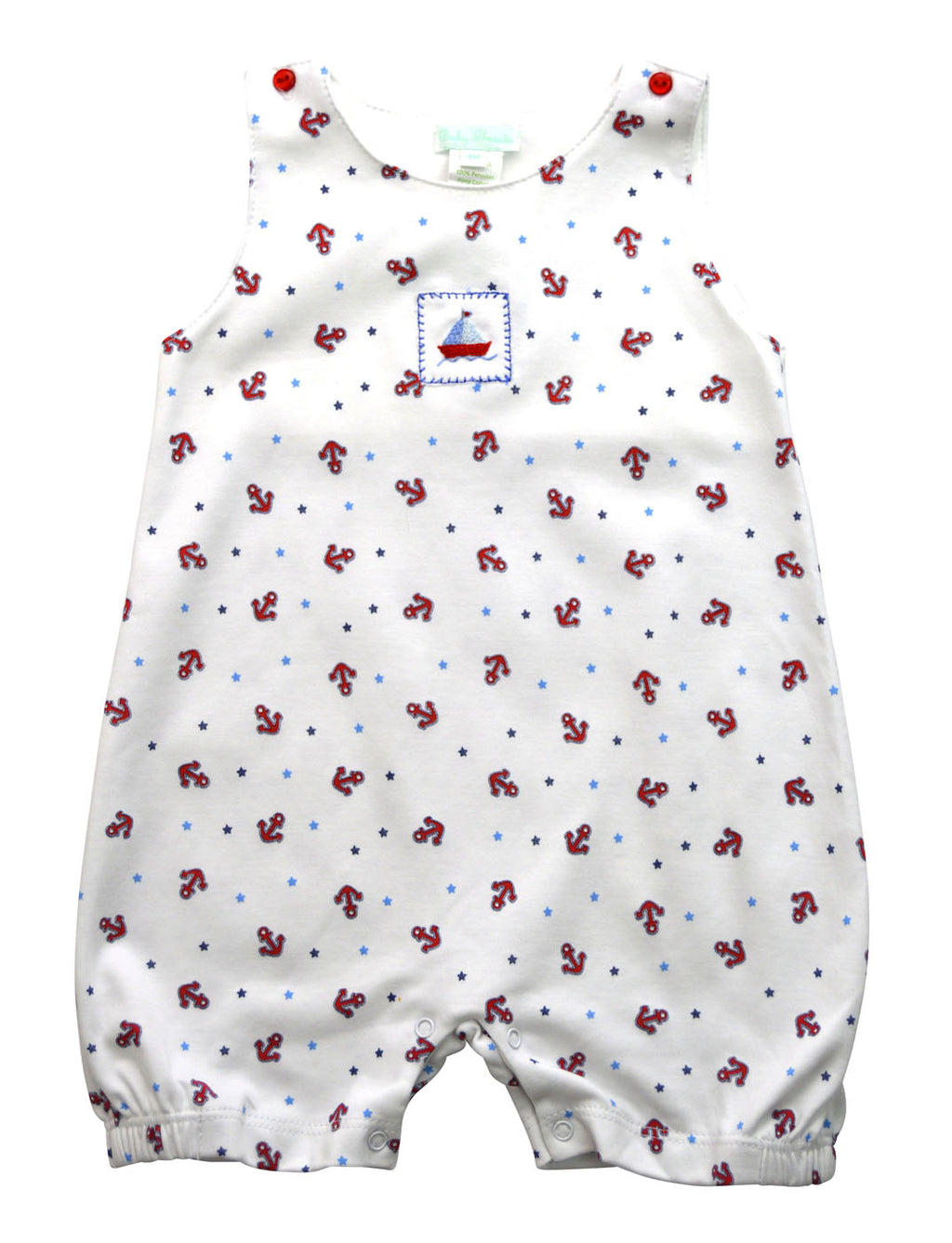 Baby Threads Pima cotton Anchors and stars baby overall - Little Threads Inc. Children's Clothing