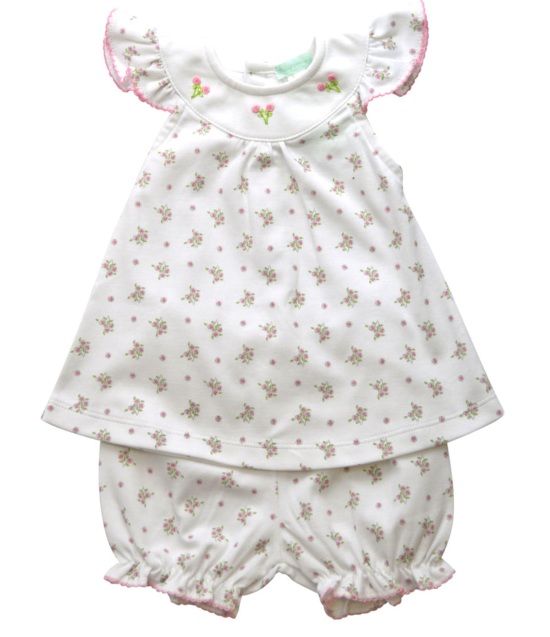 Floral Print Pima Cotton Baby Dress - Little Threads Inc. Children's Clothing