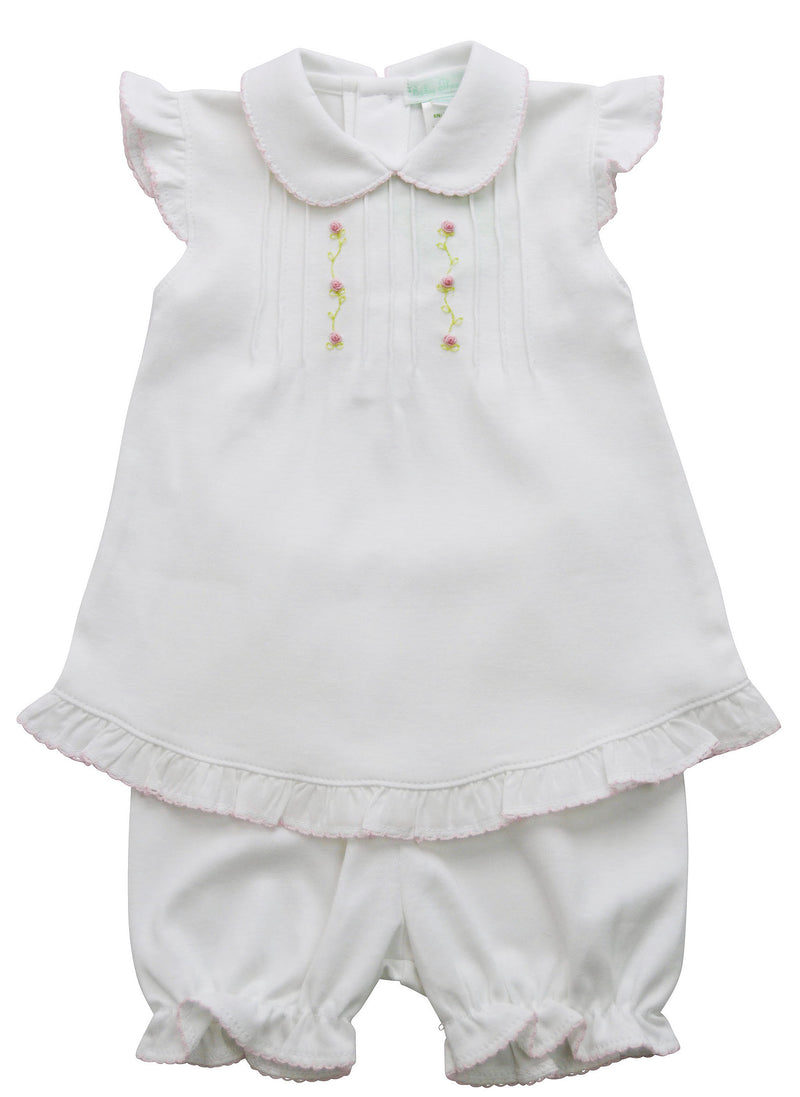 Baby Girl's White Pink Flowers Dress Set - Little Threads Inc. Children's Clothing