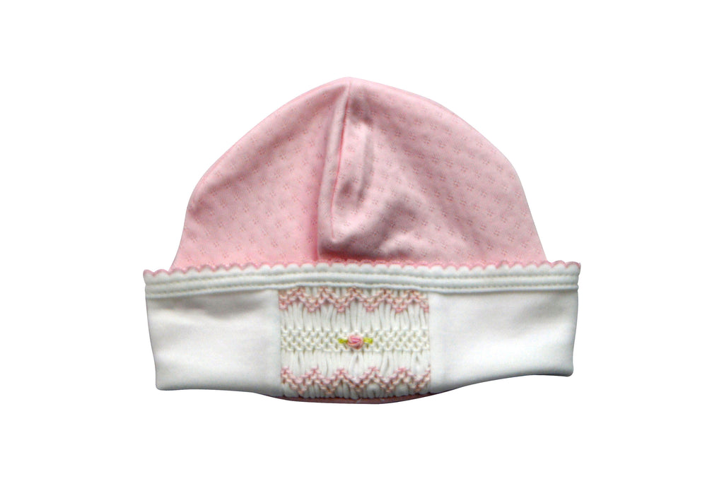 Baby Girl's Pink Jacquard Hand Smocked Hat - Little Threads Inc. Children's Clothing