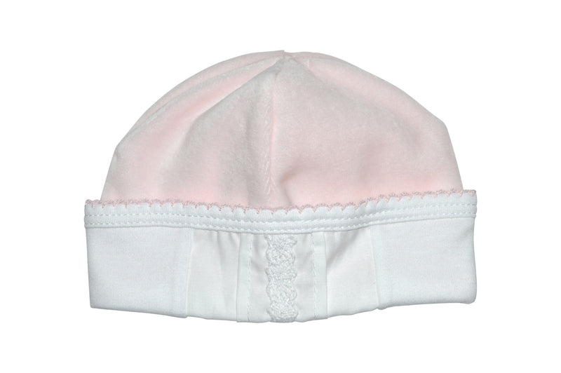 Pink Velour Lace Hat - Little Threads Inc. Children's Clothing
