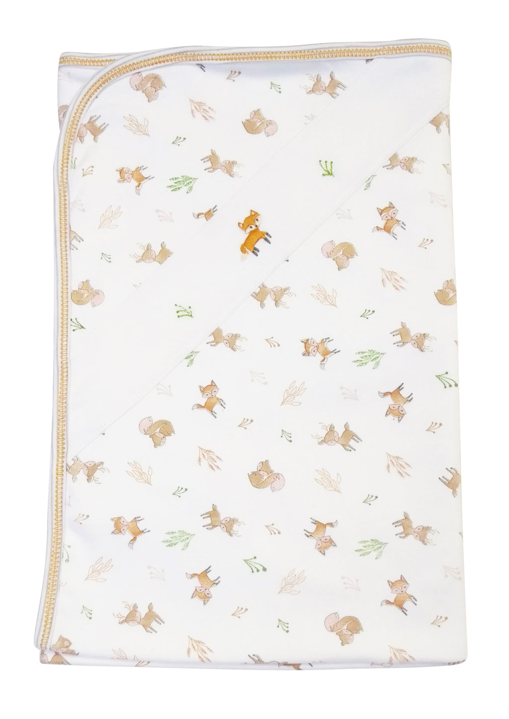 Fox and Squirrels baby boy's blanket