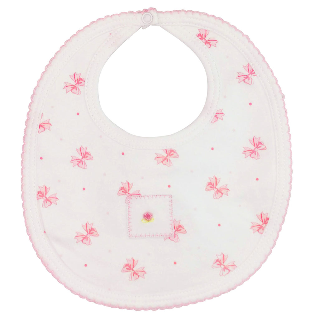 Bows print baby girl bib. - Little Threads Inc. Children's Clothing