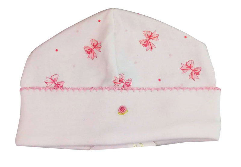 Bows Print baby girl hat