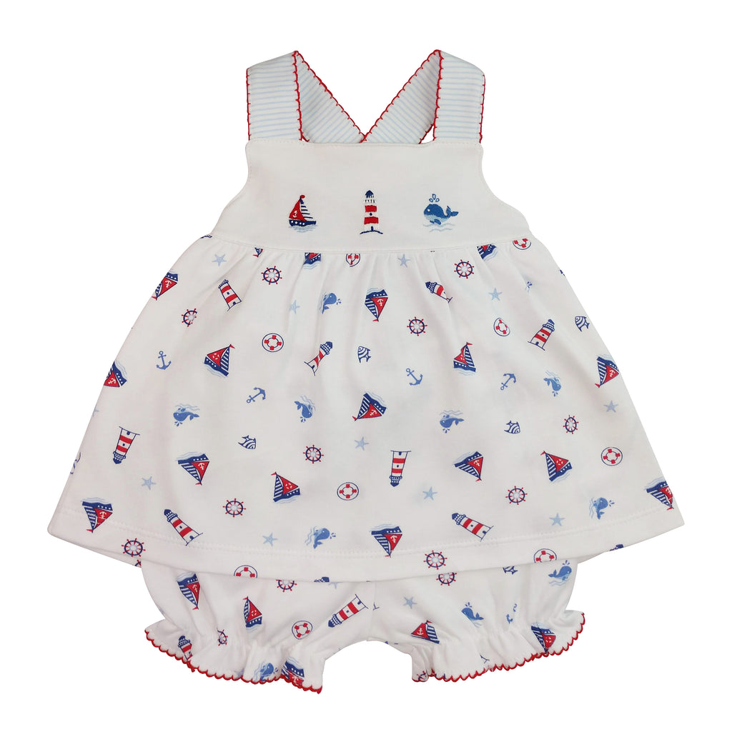 Nautical baby Girls Sundress - Little Threads Inc. Children's Clothing