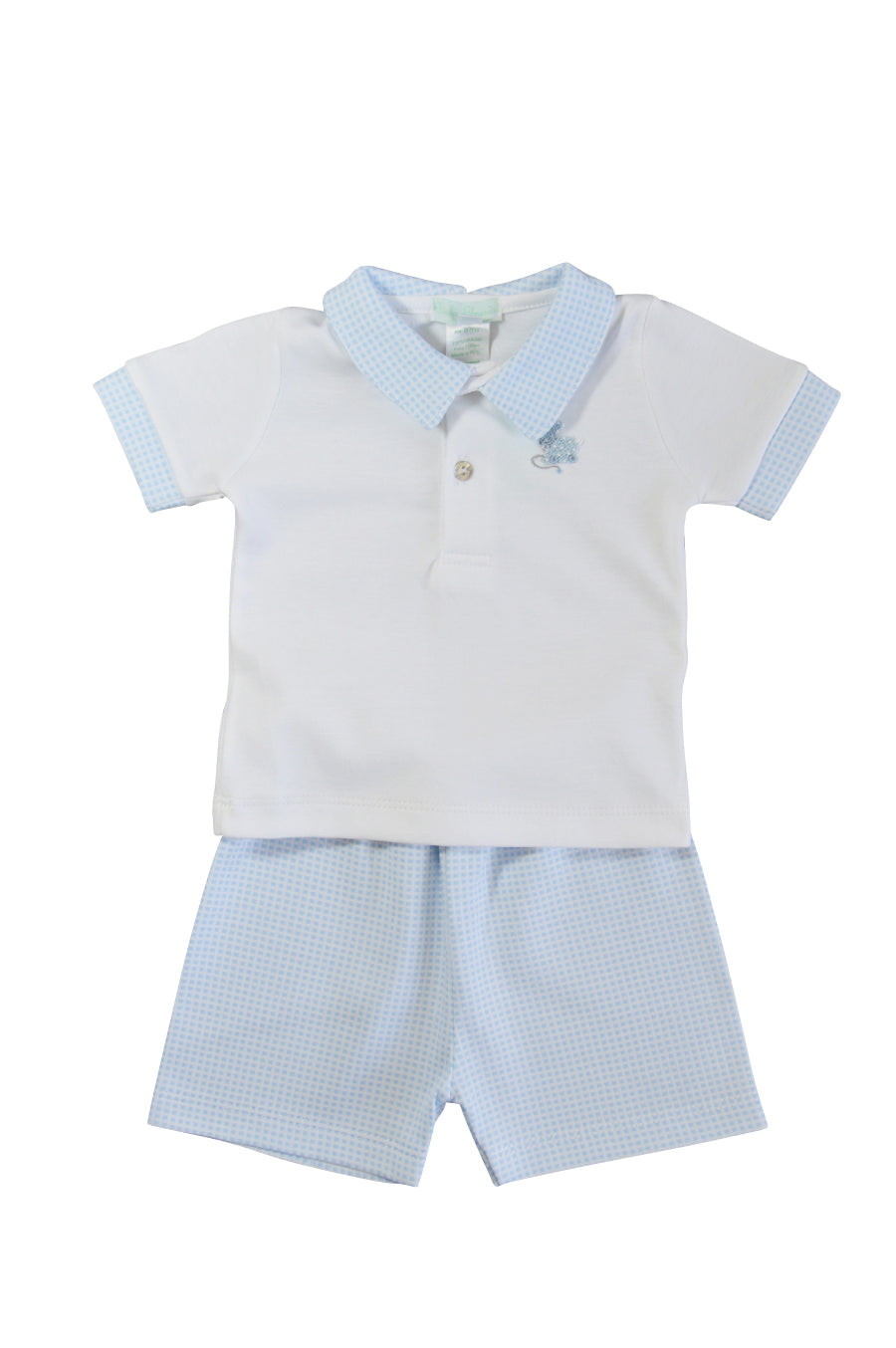 Baby Boy's Checkered Bunny Short Set - Little Threads Inc. Children's Clothing