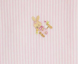 Pink Stripe Bunny Baby Girl's blanket - Little Threads Inc. Children's Clothing